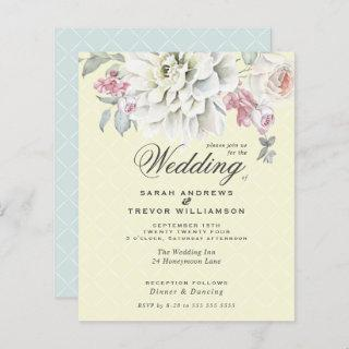 Low Budget Wedding Mixed Floral Yellow Mint