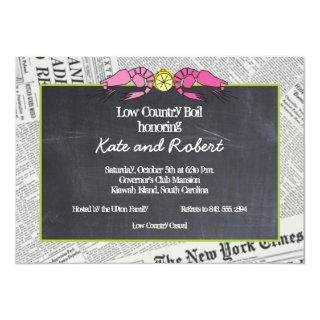 Lowcountry Boil Newsprint Invitations