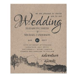Lowest Budget Rustic Mountains Wedding Flyer