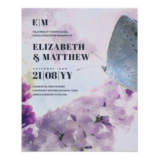 Lowest Budget Wedding FLYERS Lilac Butterfly