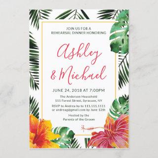 Luau Hawaiian Tropical Rehearsal Dinner Invitation