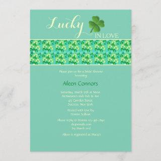 Lucky in Love U-Pick Background Color Invitations