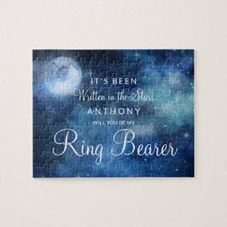 Lunar Sky Full Moon Be Our Ring Bearer Proposal Jigsaw Puzzle