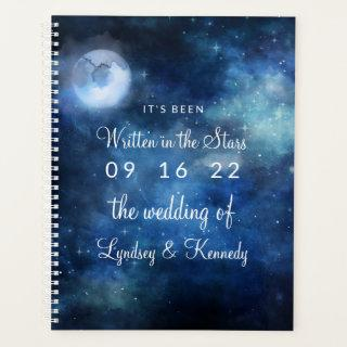 Lunar Sky Full Moon Celestial Galaxy Wedding Plans Planner