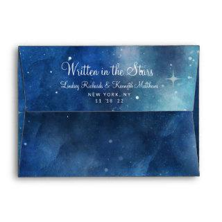 Lunar Sky Full Moon Celestial Monogram Wedding Envelope