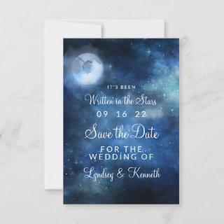 Lunar Sky Full Moon Celestial Written in the Stars Save The Date