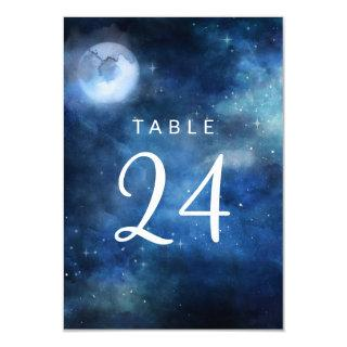 Lunar Sky Full Moon Stars Wedding Table Numbers