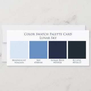 Lunar Sky Moon Wedding Color Swatch Palette Card