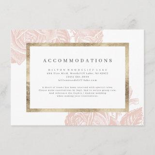Luxe rose blush gold vintage accommodations enclosure card