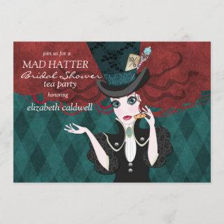 Mad Hatter Bridal Shower Tea Party Invitations