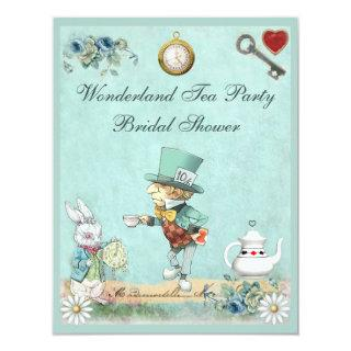 Mad Hatter Wonderland Tea Party Bridal Shower Invitations