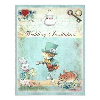 Mad Hatter Wonderland Wedding Invitation