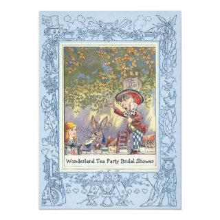 Mad Hatter's Wonderland Tea Party Bridal Shower Invitation