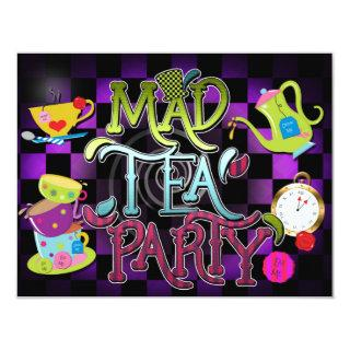 MAD TEA PARTY Wonderland Birthday Party Invitation