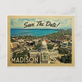 Madison Wisconsin Save The Date Vintage Postcards
