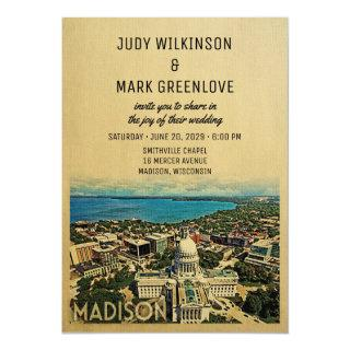 Madison Wisconsin Wedding Invitations Vintage