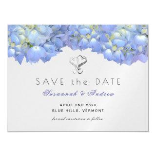 Magnetic Blue Moon Hydrangea Save the Date Card