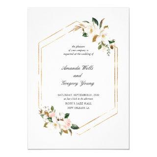 Magnolia Geometric Romance Wedding Invitations