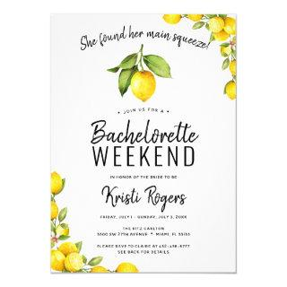 Main Squeeze Lemon Bachelorette Weekend Itinerary Invitations