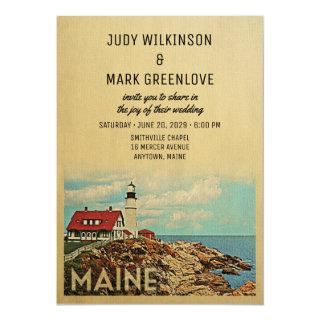 Maine Wedding Invitation Vintage Mid-Century
