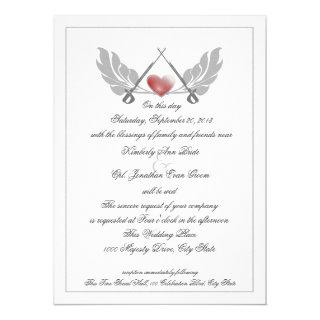 Majestic Guarded Heart Wedding Invitations