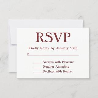 Make Your Own Burgundy and White RSVP