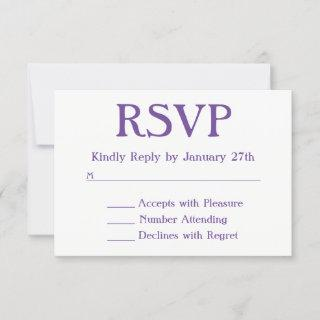 Make Your Own Purple and White RSVP