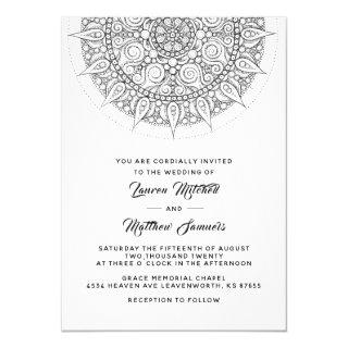 Mandala Wedding Invitations