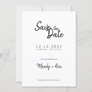 Mandy Minimalist Simple Save the Date