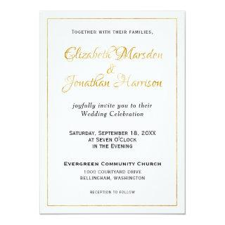 Many Waters Scripture Elegant Formal Gold Script Invitations