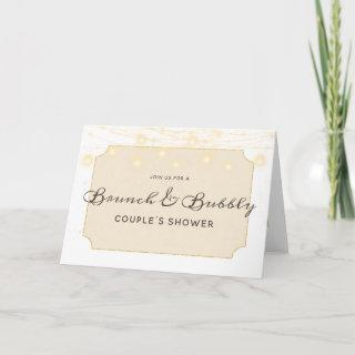 Maple Grove Lights Brunch & Bubbly Couple's Shower Invitations