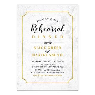 Marble | Classic Wedding Rehearsal Dinner Invitation