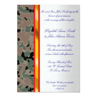 Marine Digital Camouflage Wedding Invitations