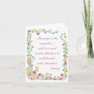 Marriage is like a garden.. Invitations