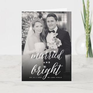 Married And Bright Holiday Wedding Announcement