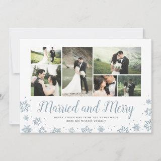 Married and Merry Newlywed Multi Photo Holiday
