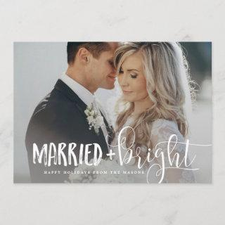 Married & Bright Holiday Photo