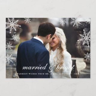 Married & Bright | Newlywed Holiday Photo Card