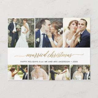 Married Christmas Script Holiday 7Photo Collage