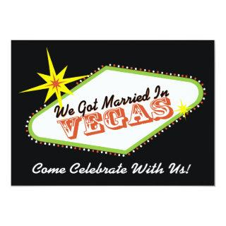 Married in Las Vegas Wedding Party Invitations