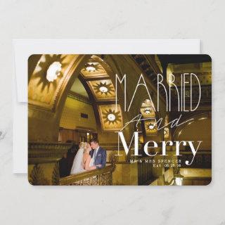Married & Merry   Married Couple Holiday Photo