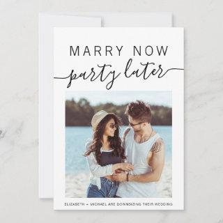 Marry Now Party Later Photo Smaller Wedding