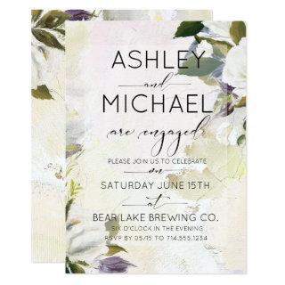 Marsala Oil Typography Engagement Party Invitation