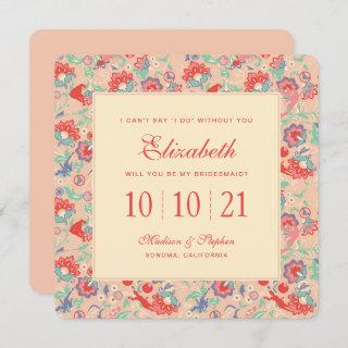 MARVEL Avengers Pink Floral | Bridesmaid Invitation