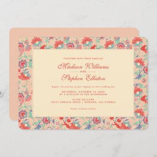 MARVEL Avengers Pink Floral Wedding Invitations