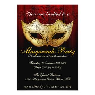 Masquerade Party Celebration Fancy Invitations