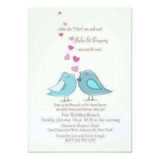 Mated Post Wedding Teal Brunch Invitation