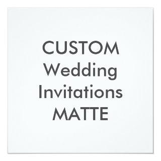 "MATTE 120lb 5.25"" Square Wedding Invitations"