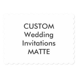 "MATTE 120lb 7"" x 5"" Scalloped Wedding Invitations"