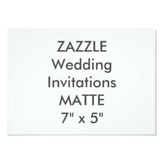 "MATTE 120lb 7"" x 5"" Wedding Invitations"